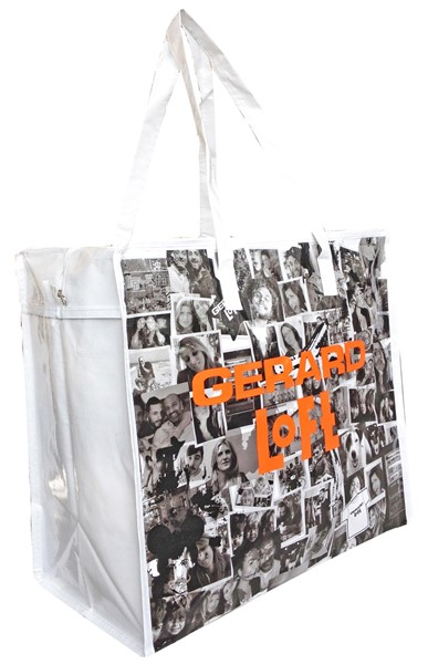 shopping bag with zipper in PP